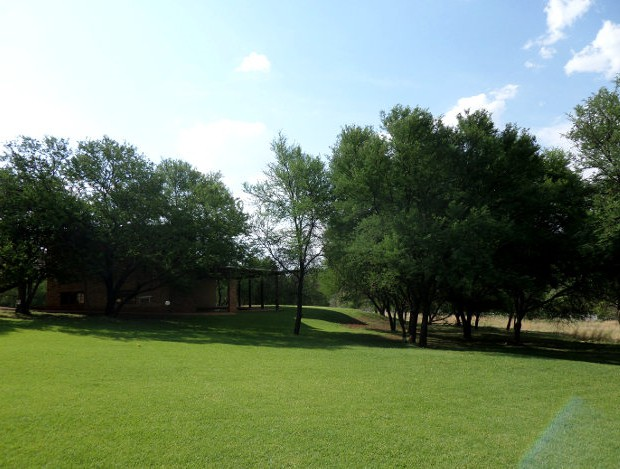 The lawn at the lodge